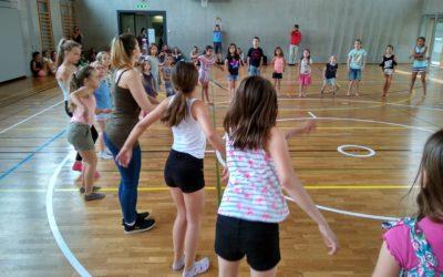 Teaching at Kinderkulturtag in central switzerland