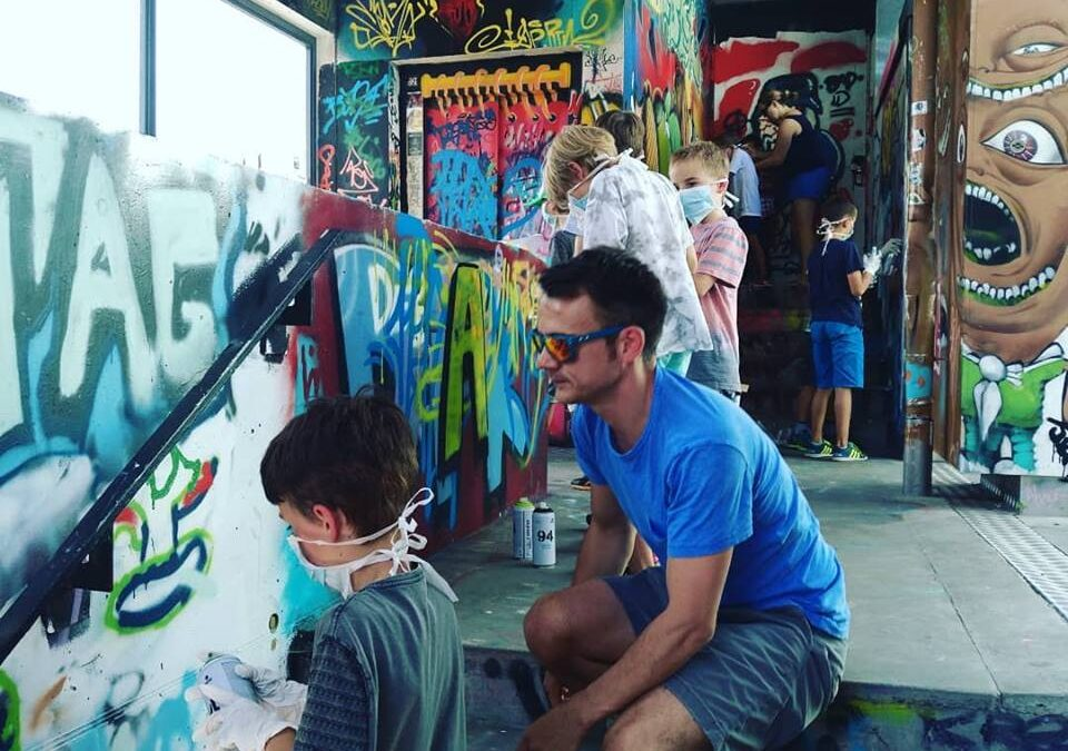 Dance & Graffitti session with Kids